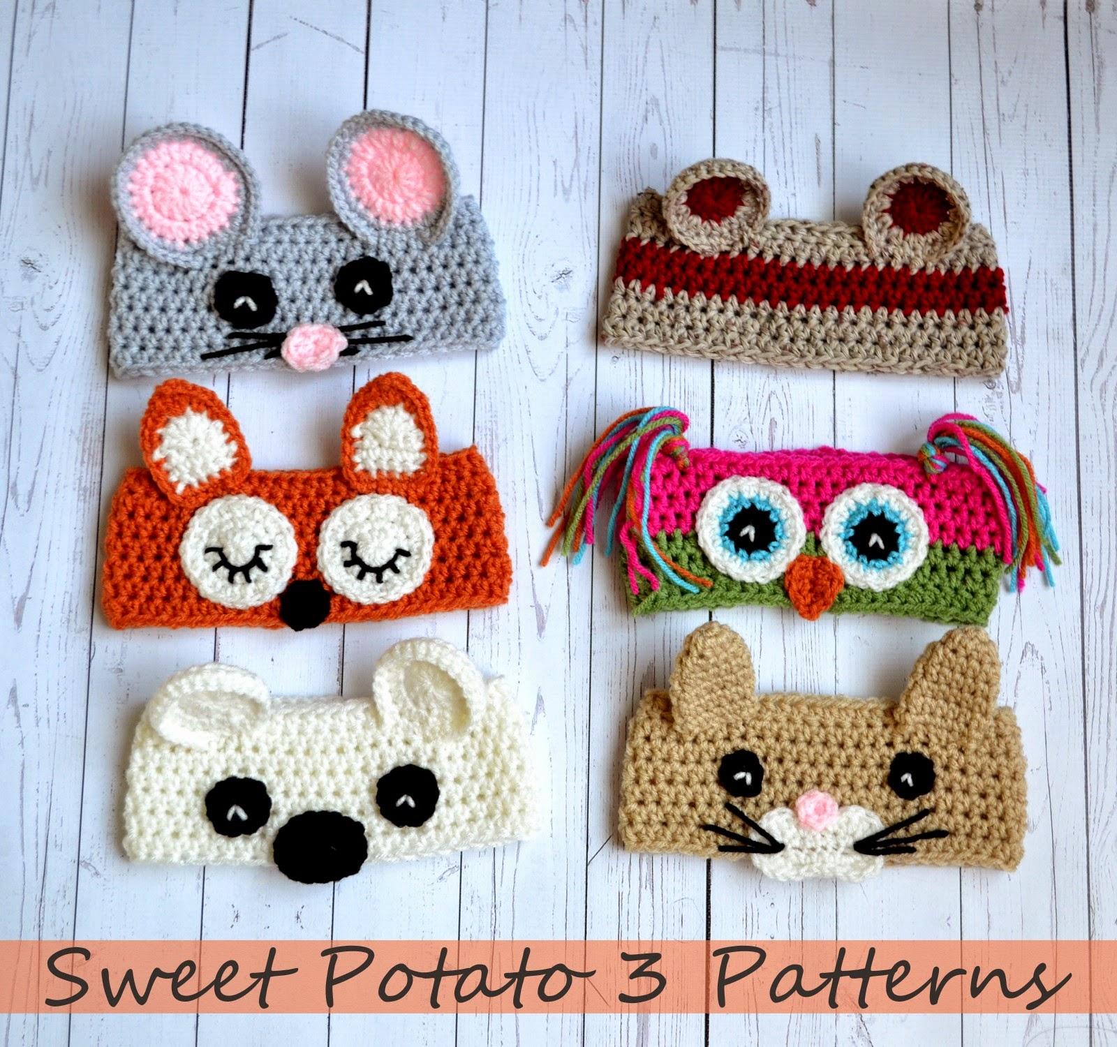 Animal Ear Warmer Pattern Release Sweet Potato 3