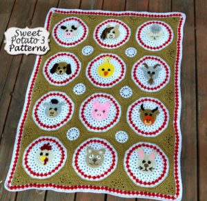 Farm Animal Blanket Crochet Pattern Sweet Potato 3