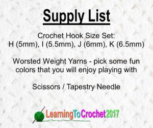 Crochet Supply List