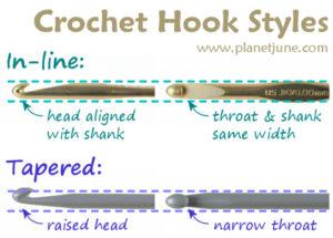 crochet hook inline vs taper