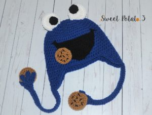 Cookie Monster Frog Hat