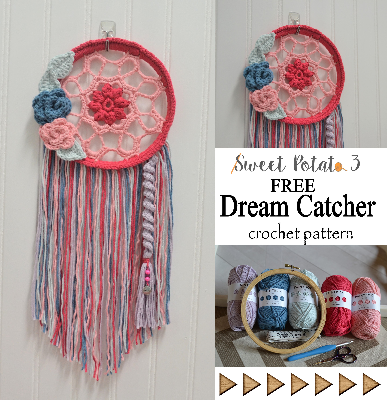 Dream Catcher Delight Free Crochet Pattern Sweet Potato 3