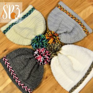 Crochet Pattern for Braided beanie