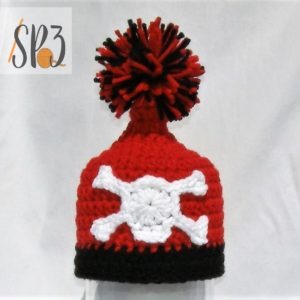 Skull & Crossbone Crochet Applique