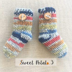 Crochet Newborn Socks