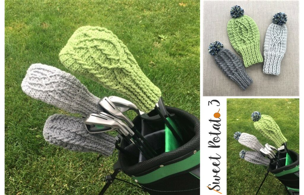 Cable Golf Club Cover Crochet Pattern Sweet Potato 3