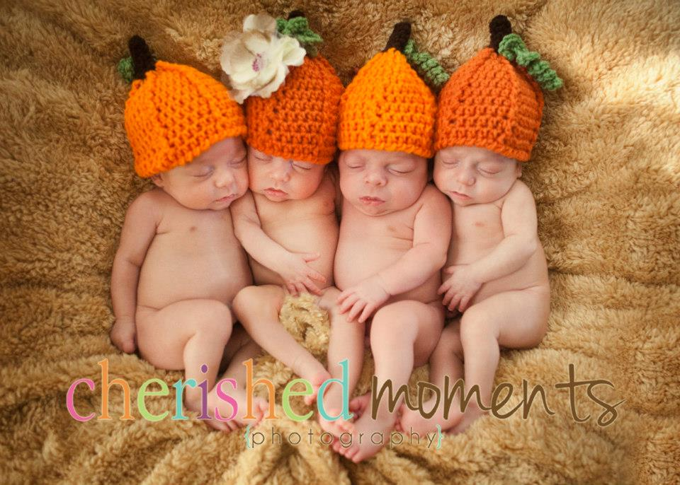 Baby//Child//Adult Various Sizes! New Crochet Halloween Pumpkin Beanie Hat