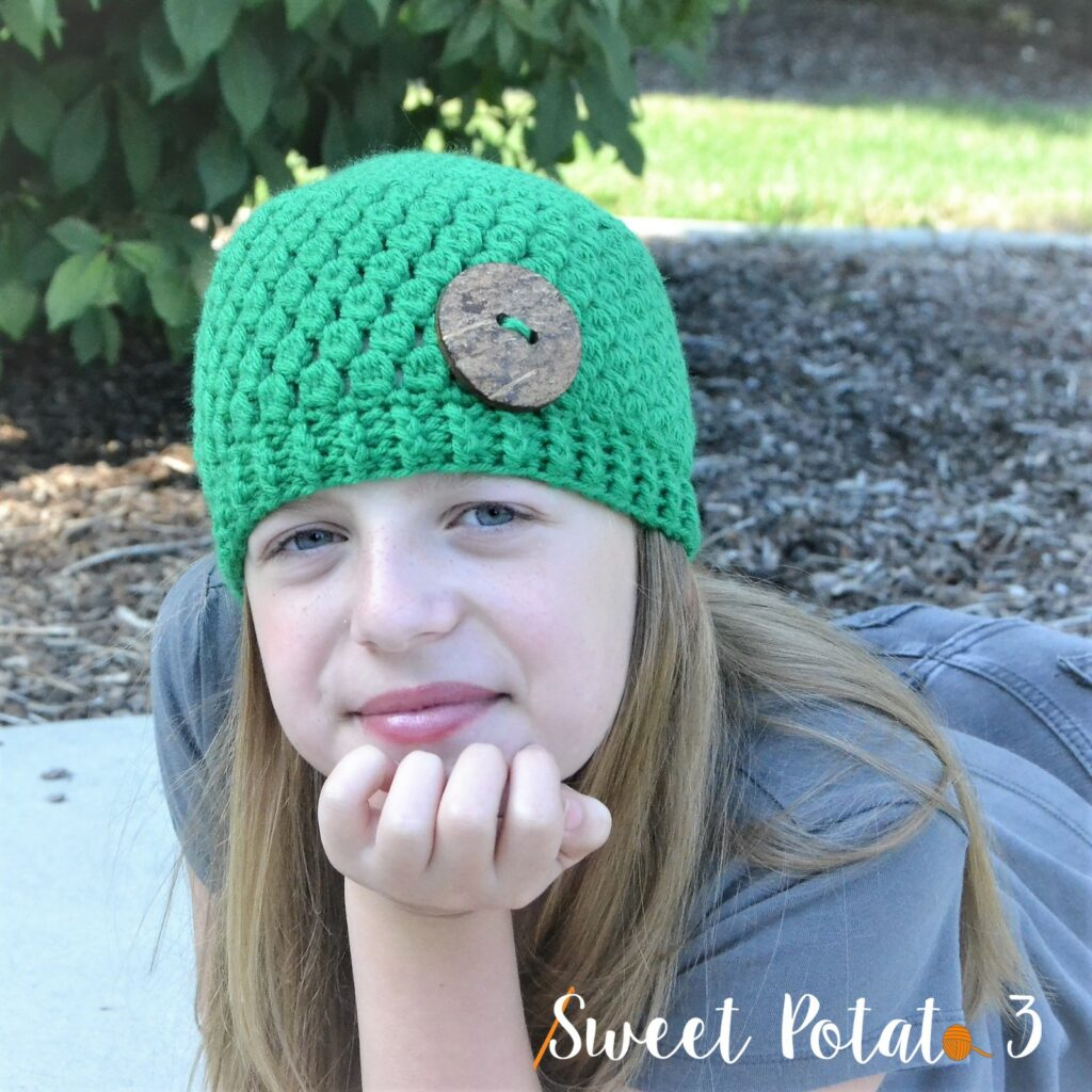 Emerald Stone Crochet Hat Pattern